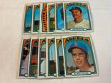 Lot of 12 ANGELS 1972 Topps Baseball Cards