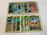 Lot of 12 RED SOX 1972 Topps Baseball Cards