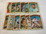 Lot of 12 BRAVES 1972 Topps Baseball Cards