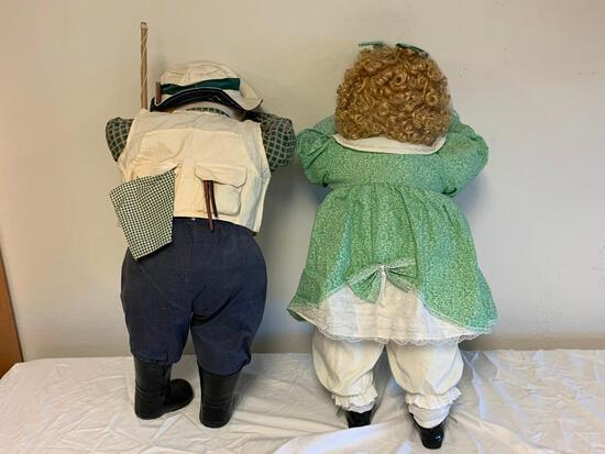 "Lot of 2 Time Out Hide and Seek 21"" Dolls"