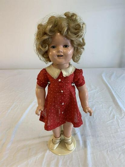 "SHIRLEY TEMPLE 1930's Ideal Composition 18"" Doll"