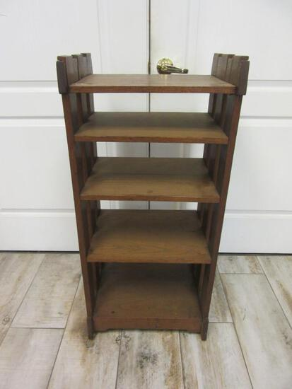 Vintage Small Wooden Shelving Unit