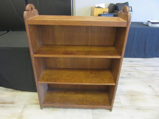 "Vintage Wooden Bookcase 35.75""x12""x48.25"""