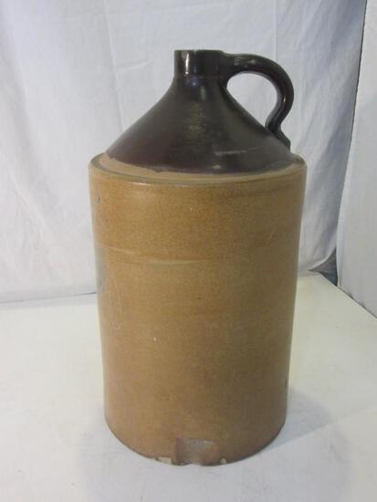 "Vintage Stoneware Salt Glaze Crock Jug 19"" Tall"