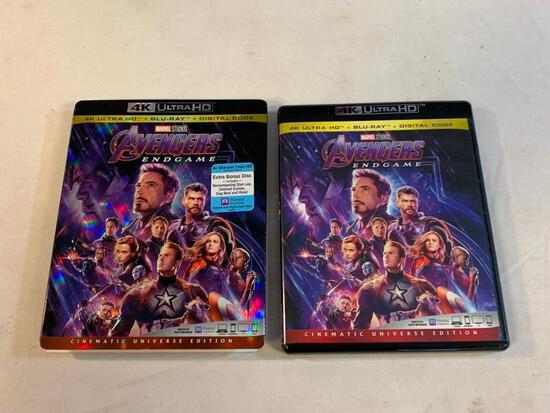 AVENGERS END GAME 4k Ultra HD + Blu-Ray Movie