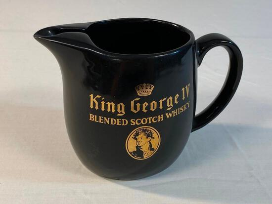 Vintage King George IV Whisky Pub Pitcher