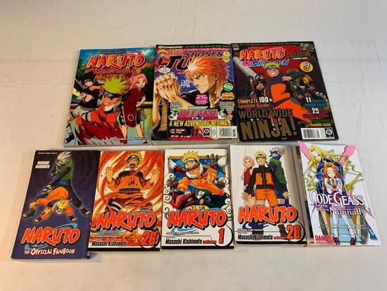 Lot of 8 Anime Books and magazines