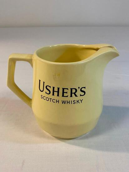 Usher's Scotch Whisky ceramic Bar Pitcher
