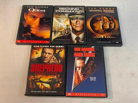JEAN CLAUDE VAN DAMME Lot of 5 DVD Movies