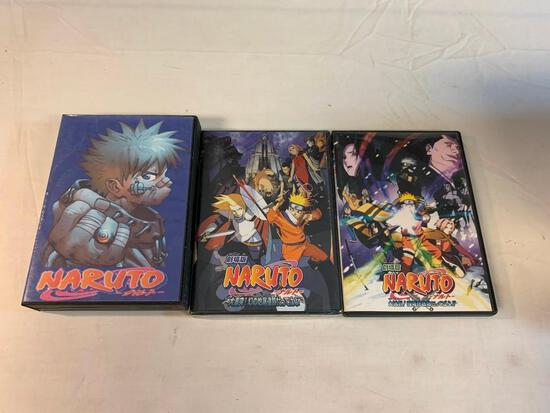 Lot of NARUTO Anime DVD Movies with 10 disc set