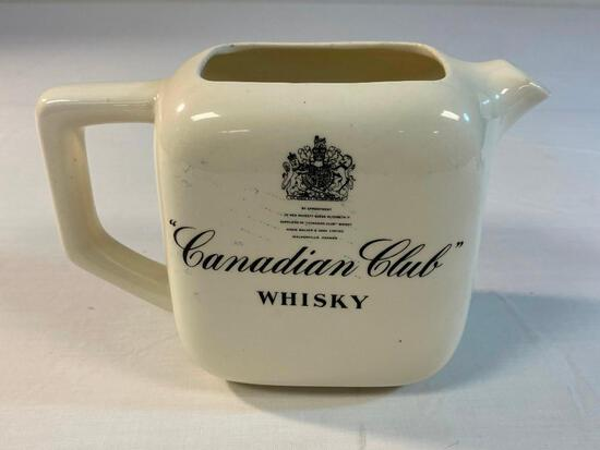 Vintage Canadian Club Whisky Pub Pitcher