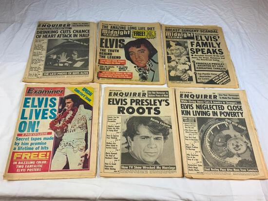 Lot of 6 Vintage ELVIS National Enquirer Magazines
