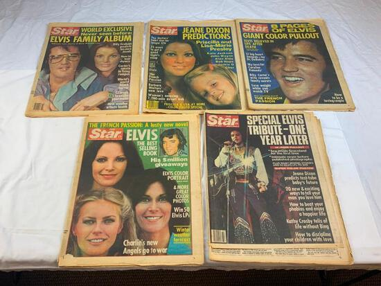 Lot of 5 Vintage ELVIS The Star...& other Magazines