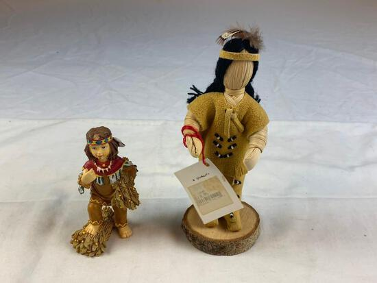 Lot of 2 Native American Figures