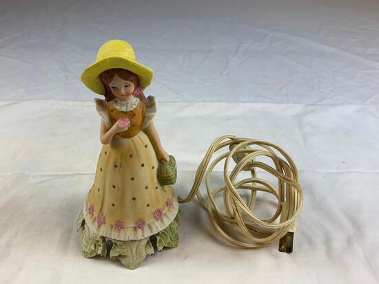 Vintage porcelain. Girl Figure Night Light