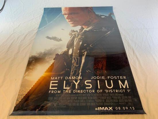 ELYSIUM Matt Damon Original DS Movie Poster 2013