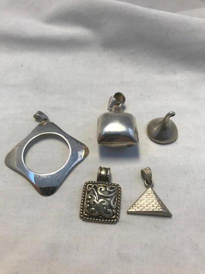 Lot of 5 Sterling Silver Misc. Charms/Pendants