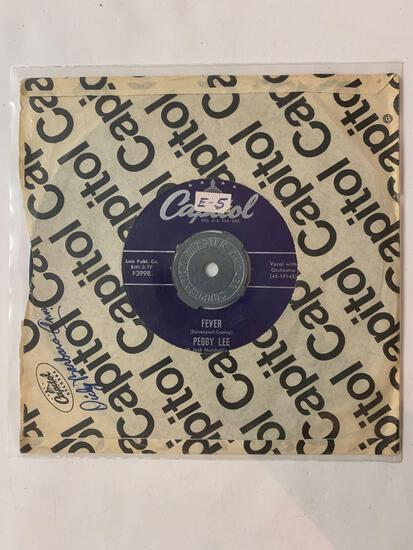 PEGGY LEE Fever 45 RPM 1958 Record