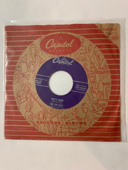 THE FIVE KEYS That's Right / Out Of Sight, Out Of Mind 45 RPM 1956 Record