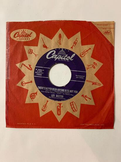 LES BAXTER Giant / There's Never Been Anyone Else But You 45 RPM 1956 Record