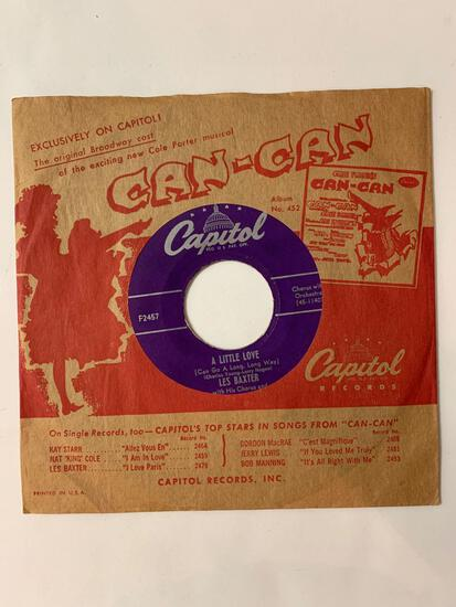 LES BAXTER WITH HIS CHORUS AND ORCHESTRA Ruby / A Little Love 45 RPM 1953 Record