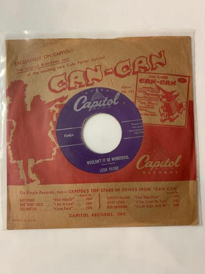 LEON PAYNE Wouldn't It Be Wonderful / I Need Your Love 45 RPM 1953 Record