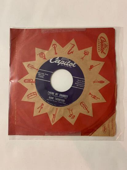 HANK THOMPSON AND HIS BRAZOS VALLEY BOYS It Makes No Difference Now / Taking My Chances 45 RPM 1956