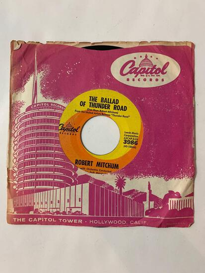 ROBERT MITCHUM The Ballad Of Thunder Road / My Honey's Lovin' Arms 45 RPM 1958 Record