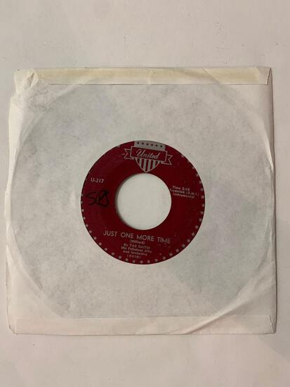TAB SMITH AND HIS FABULOUS ALTO SAX AND ORCHESTRA 45 RPM 1955 Record