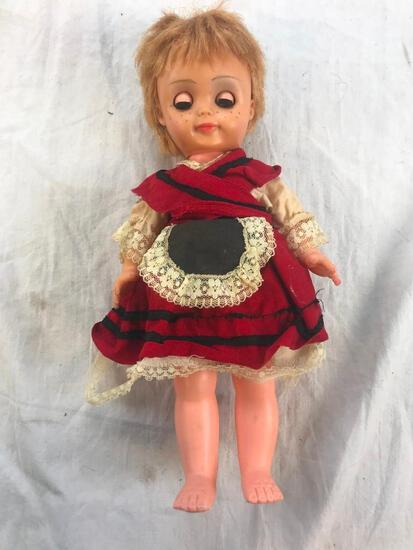 """12"""" Plastic Dutch Style Girl Doll with Dress"""