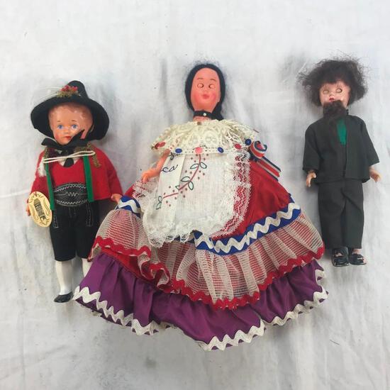 Lot of 3 Plastic Vintage Dolls