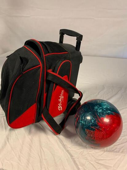 Winning Streak 11 1/2 LB Bowling Ball with case