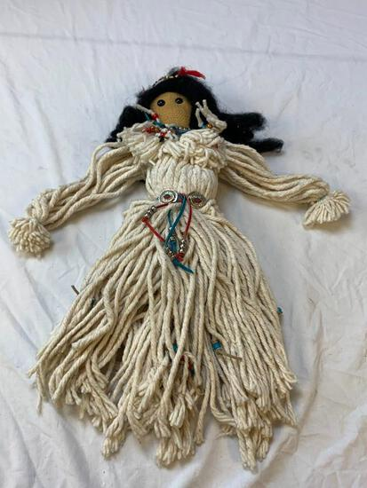 Native American Indian mop doll