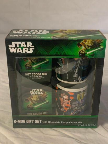 STAR WARS 2 mug Gift Set with Cocoa Mix NEW