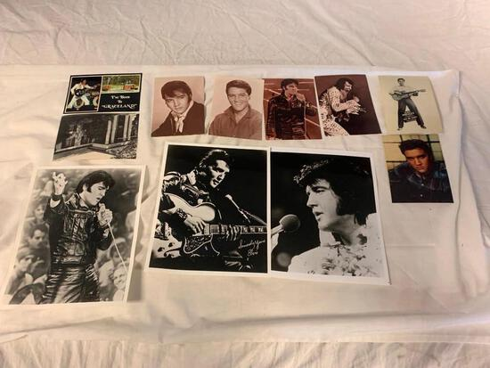 Collection of ELVIS PRESLEY Postcards and Photos