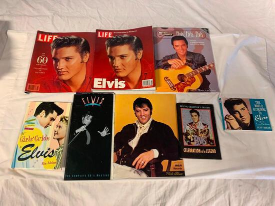 Collection of ELVIS PRESLEY Magazines, Song Books