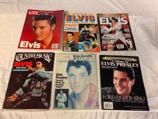 Lot of 6 ELVIS PRESLEY vintage Magazines