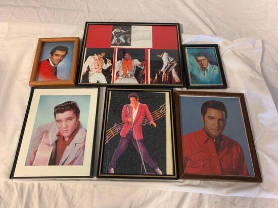 Lot of 6 ELVIS PRESLEY Framed Photos