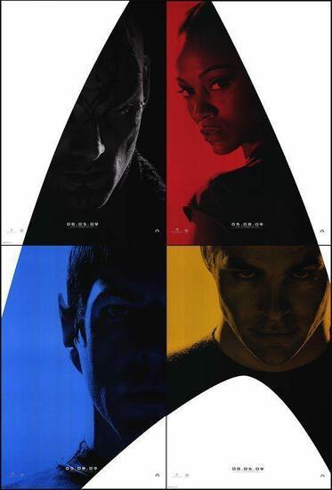 STAR TREK (2009) SET OF 4 ADVANCE MOVIE POSTERS