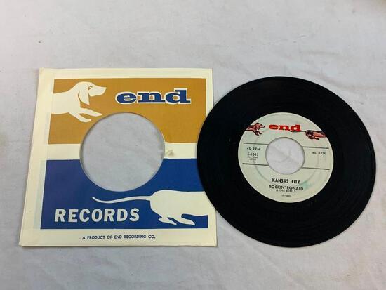 ROCKIN RONALD Cuttin Out 45 RPM Record 1959