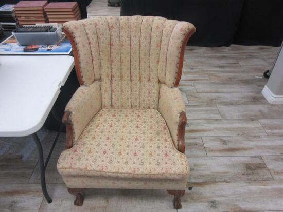 "Vintage Floral Design Armchair 38.75"" Tall"