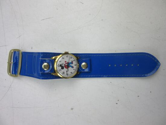 Mickey Mouse DISNEY Swiss-Made Blue Band Watch