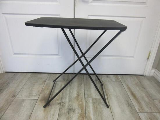 Collapsible/Adjustable Black Side Table