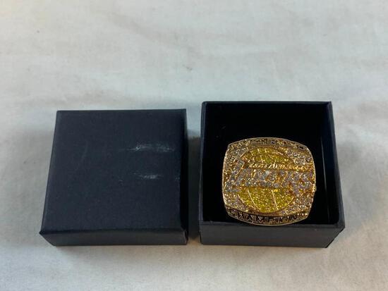 2020 LA Lakers LEBRON JAMES Championship Replica Ring NEW 10.5