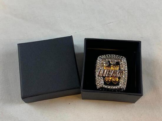 2003 Miami Heat LEBRON JAMES Championship Replica Ring NEW 10