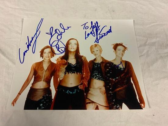 B*WITCHED Irish girl Music group AUTOGRAPH 8x10 Color Photo
