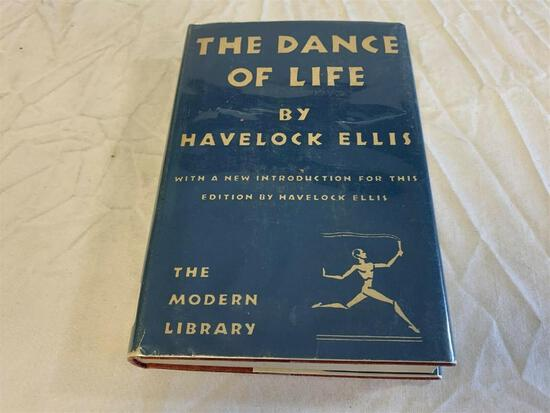 Vintage 1929 The Dance Of Life By Havelock Ellis Hard Cover Book