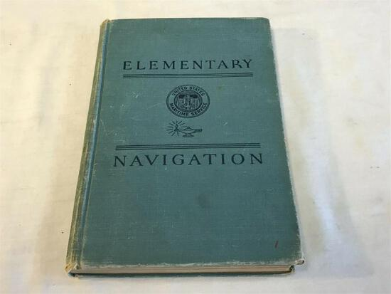 1944 Elementary Navigation Volume One United States Maritime Service Special Edt