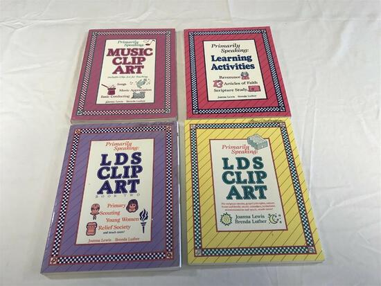 Lot of 4 LDS Mormon Clip Art Books Primarily Speaking