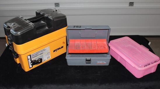 Plastic Clear top Organizer- tackle box - plastic bin
